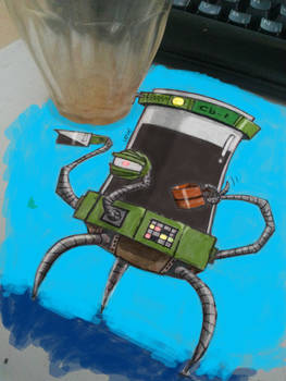 Coffeebot v1 painted