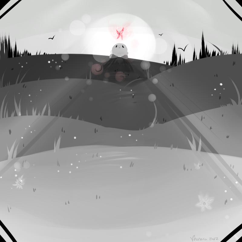 :Kirby: Monotone by Veonara