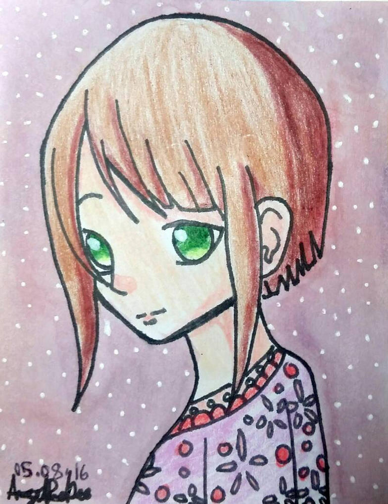 Anime Chibi Girl drawing by AngelineDeeMG