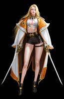 Swordwoman by BLACKBLACKJACK