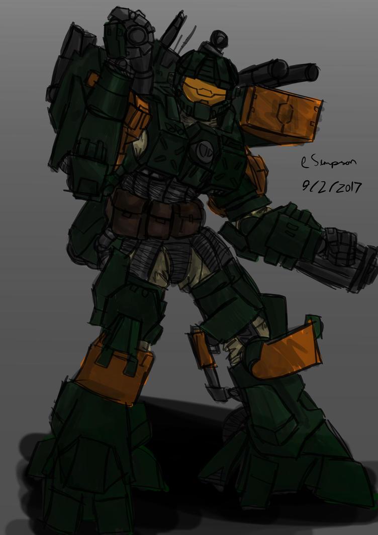 Halo power armor by PlayerError404