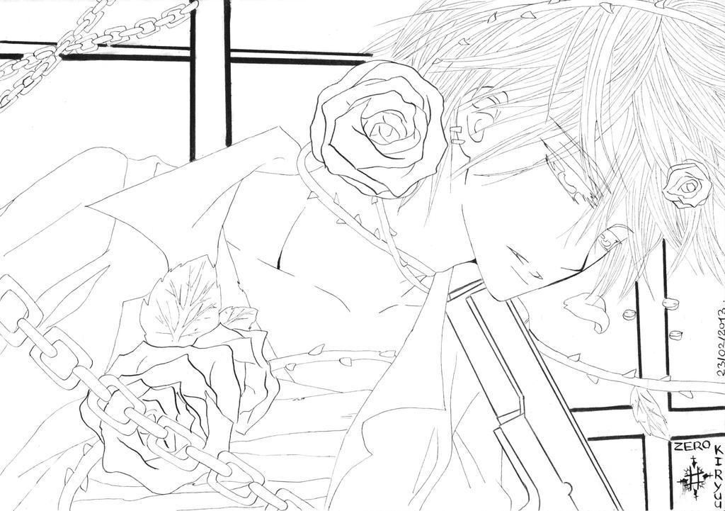 Line Art Zero : Line art vampire knight zero by shirubani on deviantart