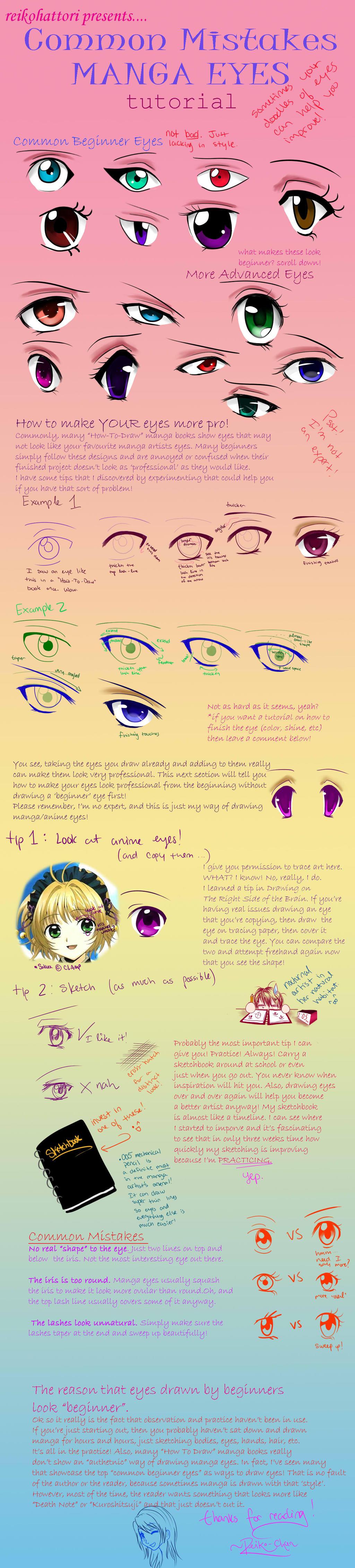 Manga Eye Tutorial For Beginners by reikohattori