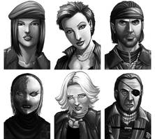 Commission: Portrait Gallery 001 by ExMile