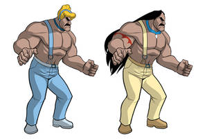 Mike Haggar reimagined as Disney Princesses Part 2 by ExMile