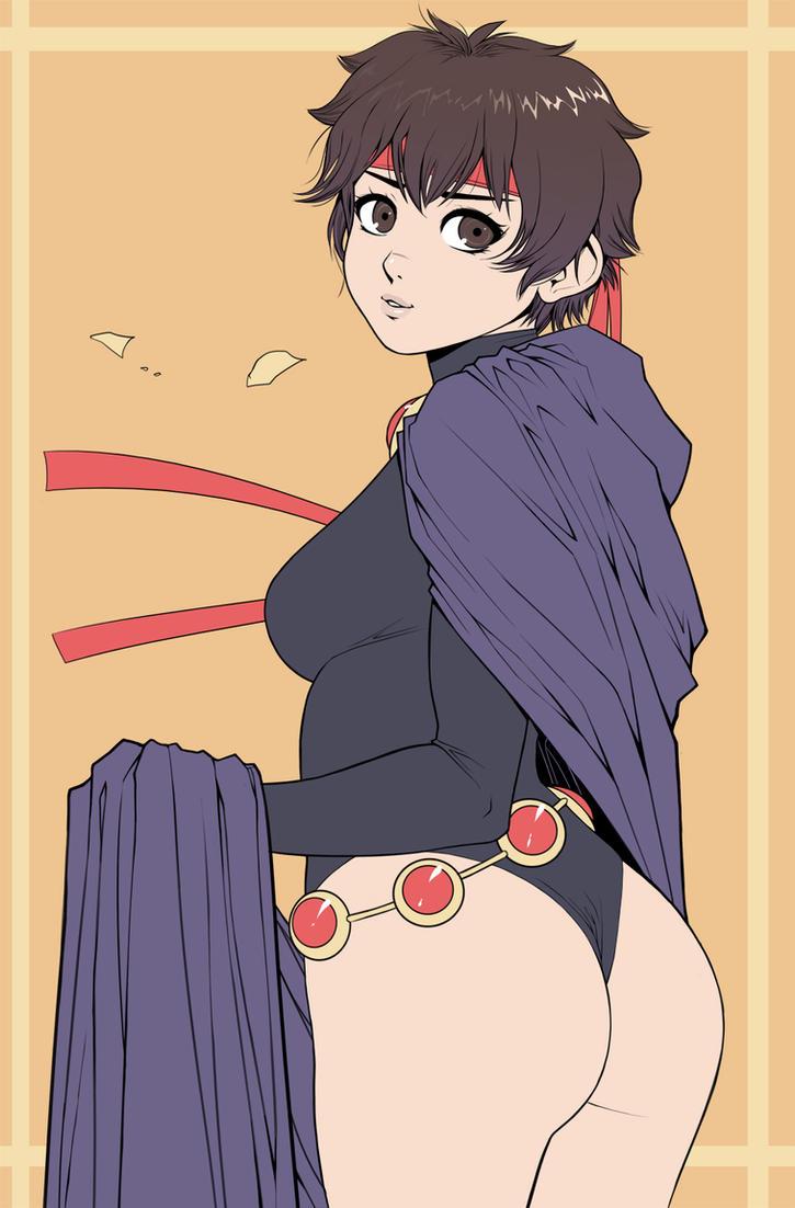 Sakura Cosplaying as Raven by ExMile