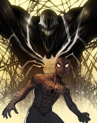 Spider-Man and Venom by ExMile
