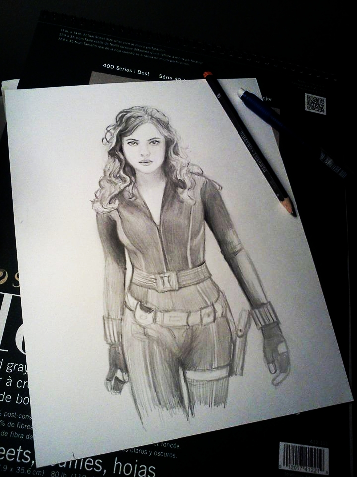 Black widow w i p speed drawing video coming by pencilsketches