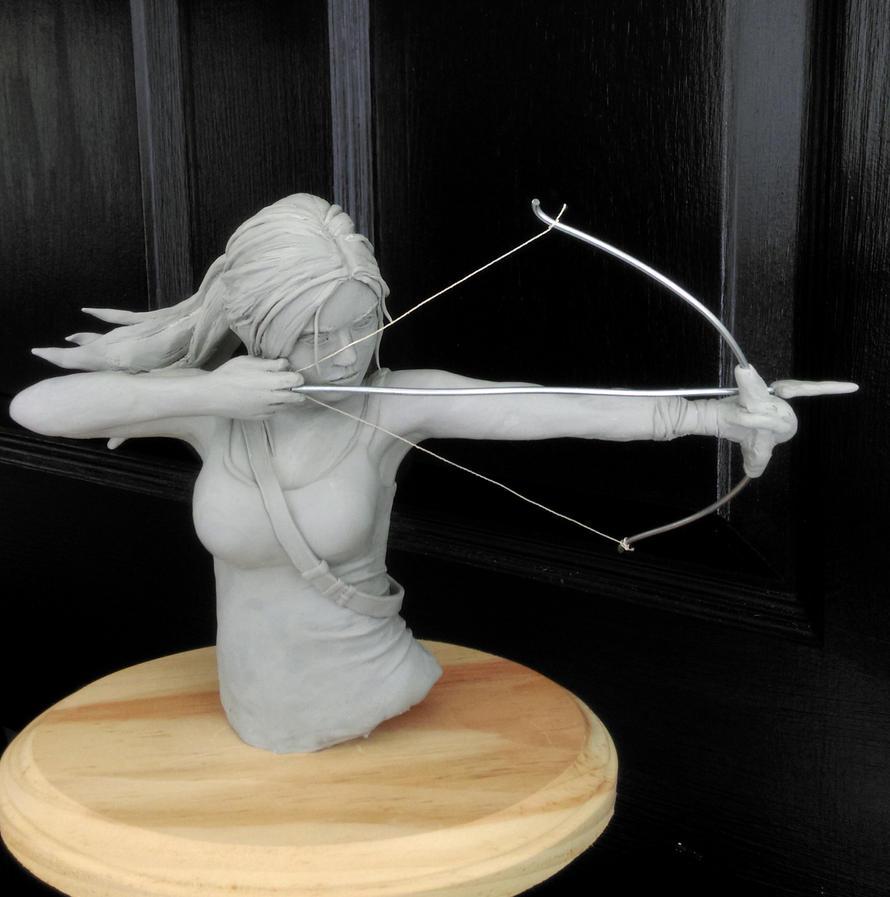 Lara Croft Sculpture Tomb Raider by Pencilsketches