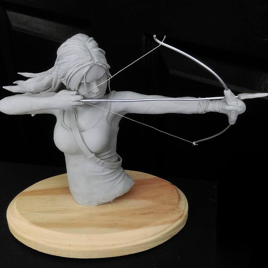 Lara Croft Sculpture by Pencilsketches