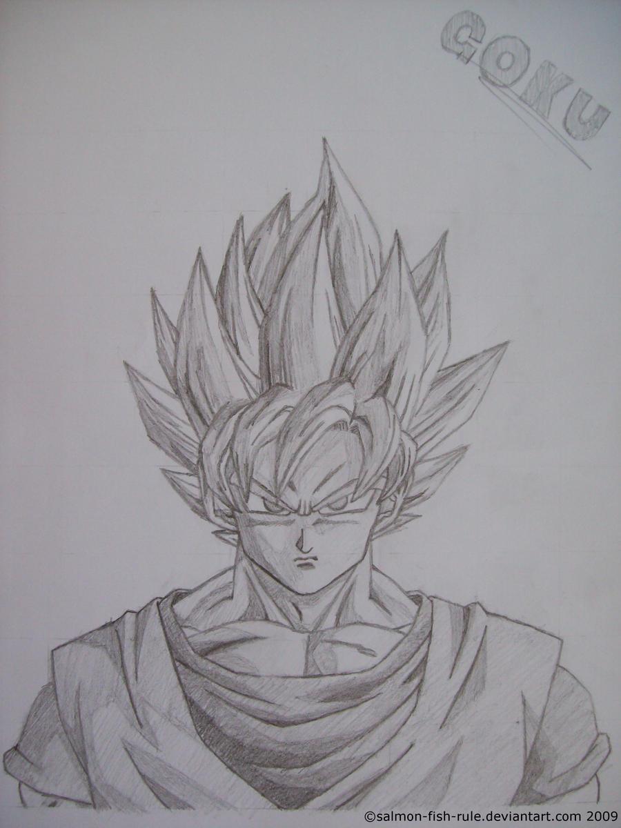 Goku  Super Saiyan by Salmonfishrule on DeviantArt
