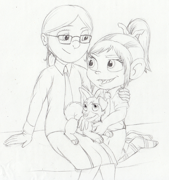 Margo and Vanellope: Schoolfriends AU by The101stDalmatian