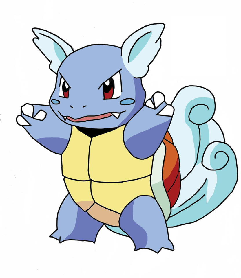 Wartortle, first attempt by mvnator666 on DeviantArt