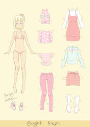Paper Doll Cecile by brighthikarii