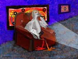 Watching a TV show! by alteredteddybear