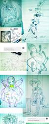 Inktober - November Doodles + Prompts by yukisnishika
