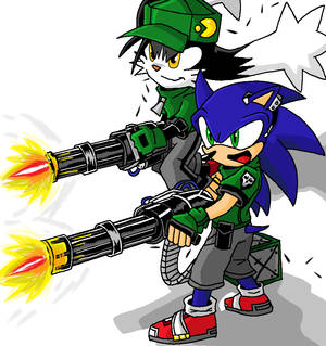 Sonic Klonoa Gun Power