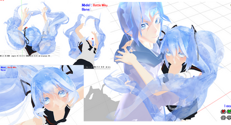 WIP: Playing with Tda x Bottle series MMD models