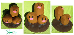 Dugtrio trio trio by Fox7XD