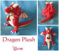 Dragon Plush Commission by Fox7XD