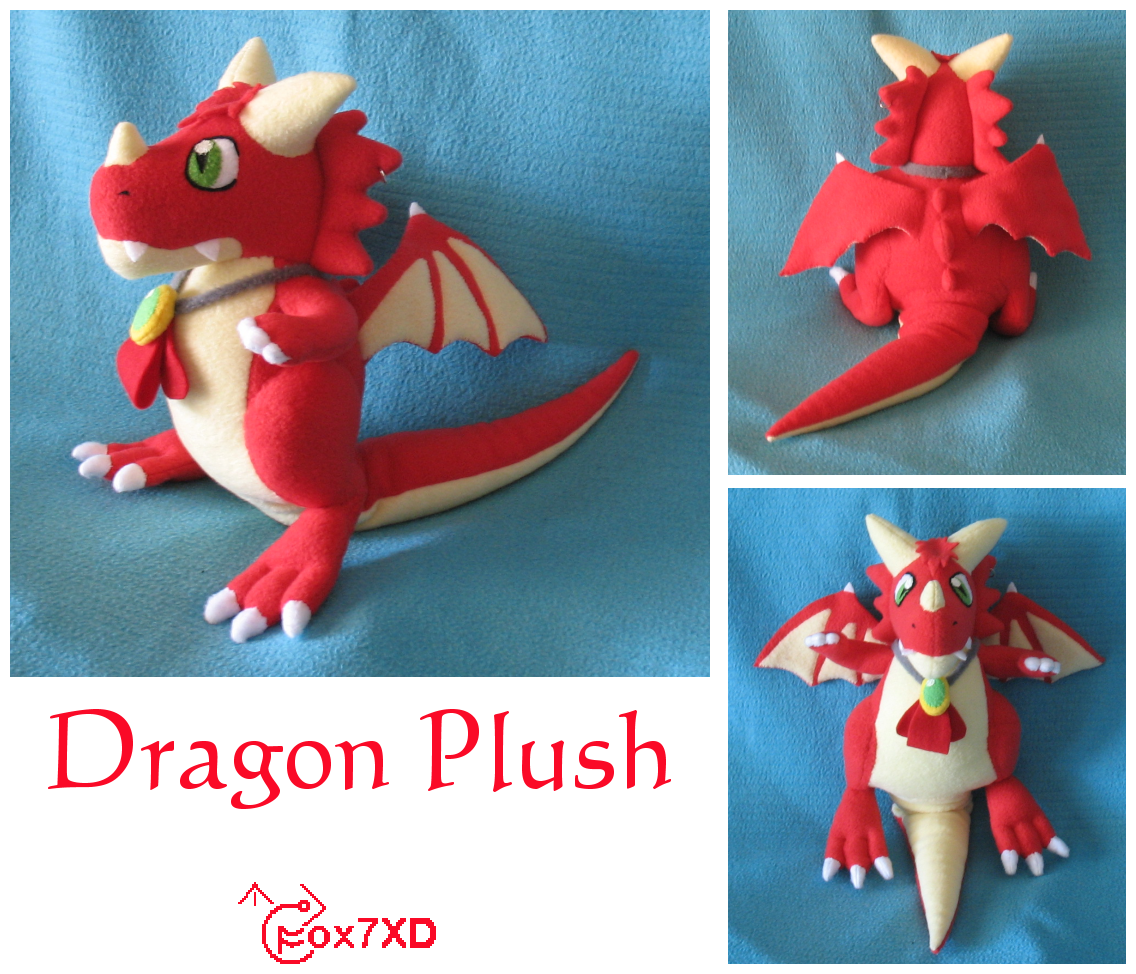 Dragon Plush Commission by Fox7XD