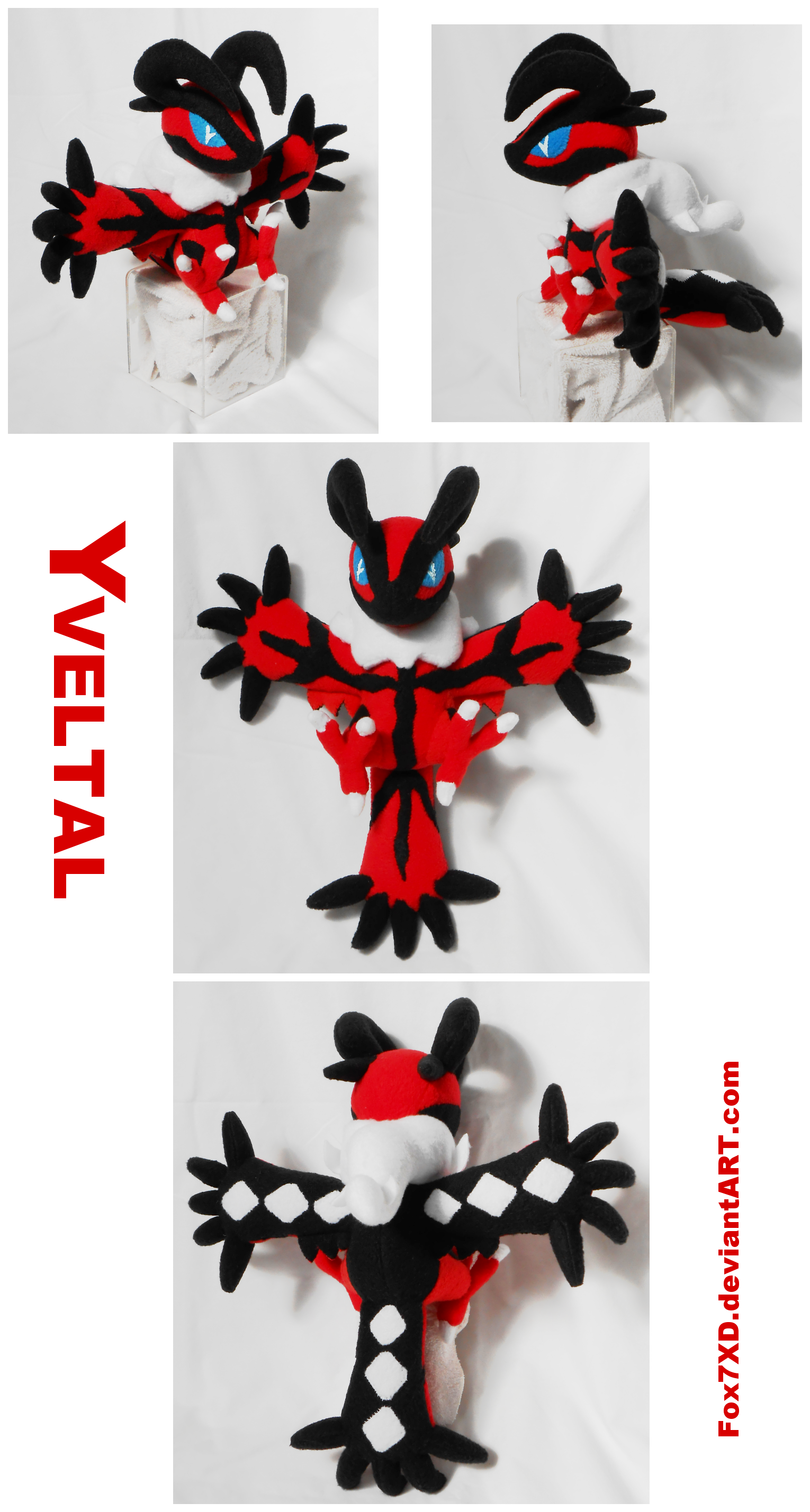 Yveltal Pokedoll by Fox7XD