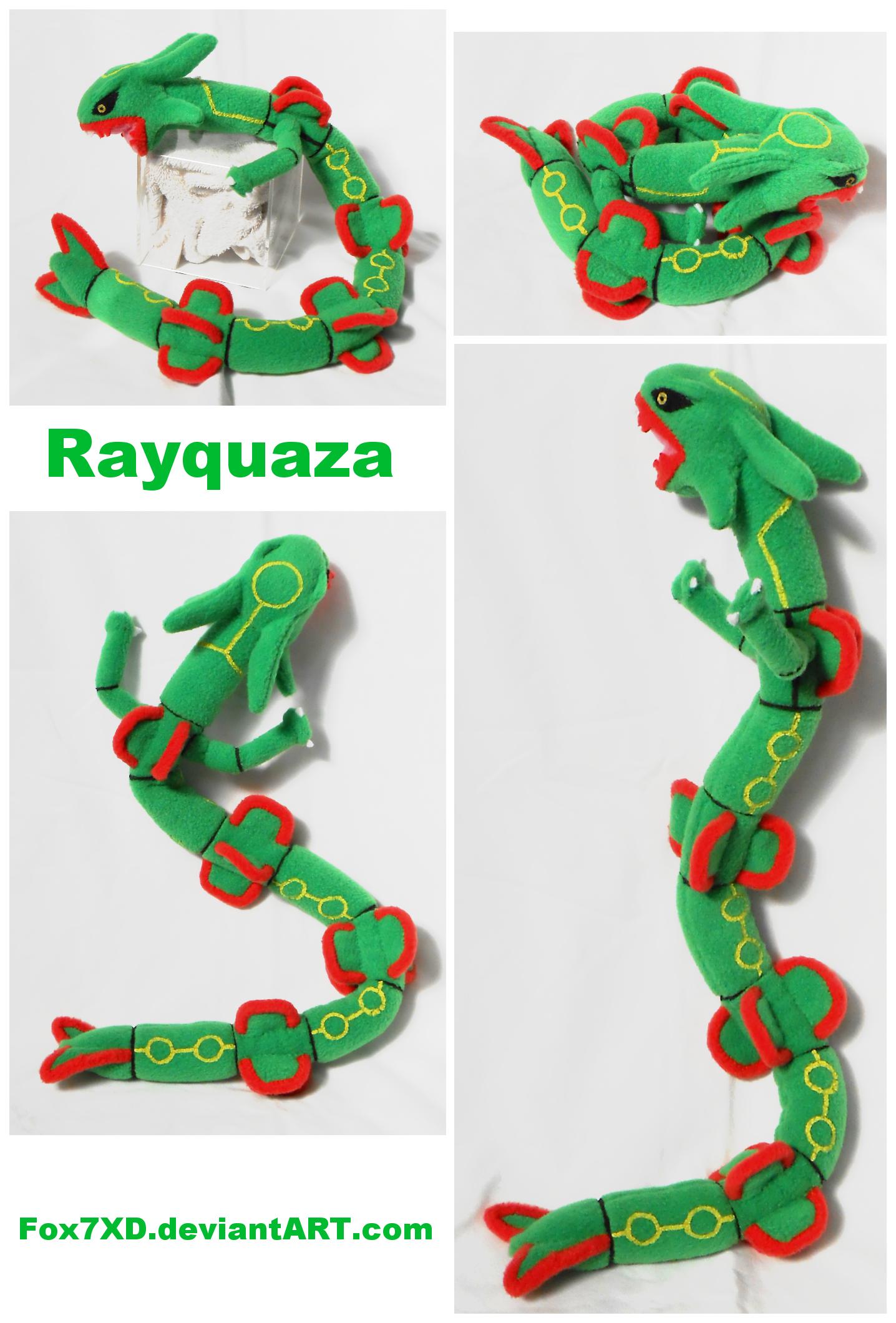 Rayquaza mini Plush by Fox7XD
