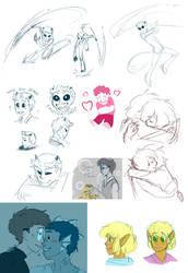 PatCC sketchdump 3 by Fox7XD