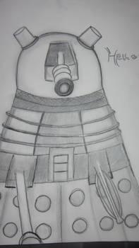Hello A Dalek Sketch (revisited)