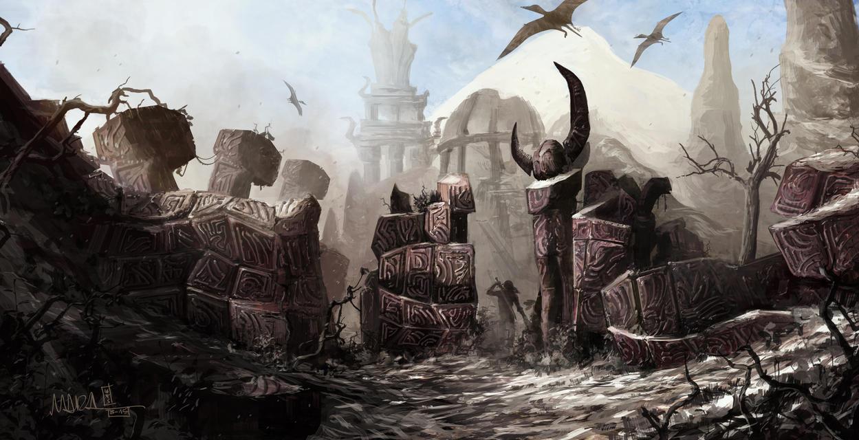 Morrowind - Page 3 Skywind_daedric_ruins_by_mbanshee-d96jcvs