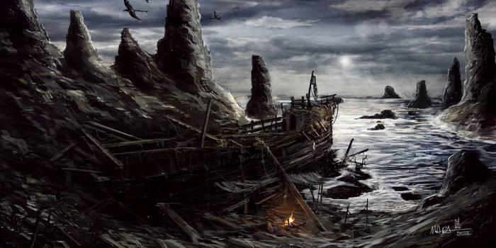 TES - Morrowind - Sheogorad Ship Wreck