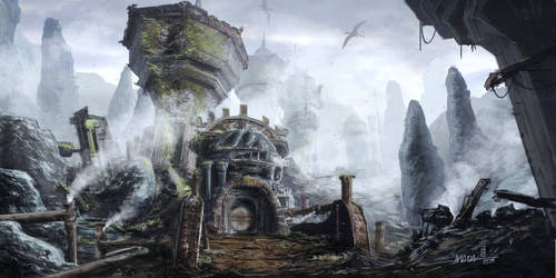 TES - Morrowind - Dwemer Ruins East of Mount Assar by mbanshee