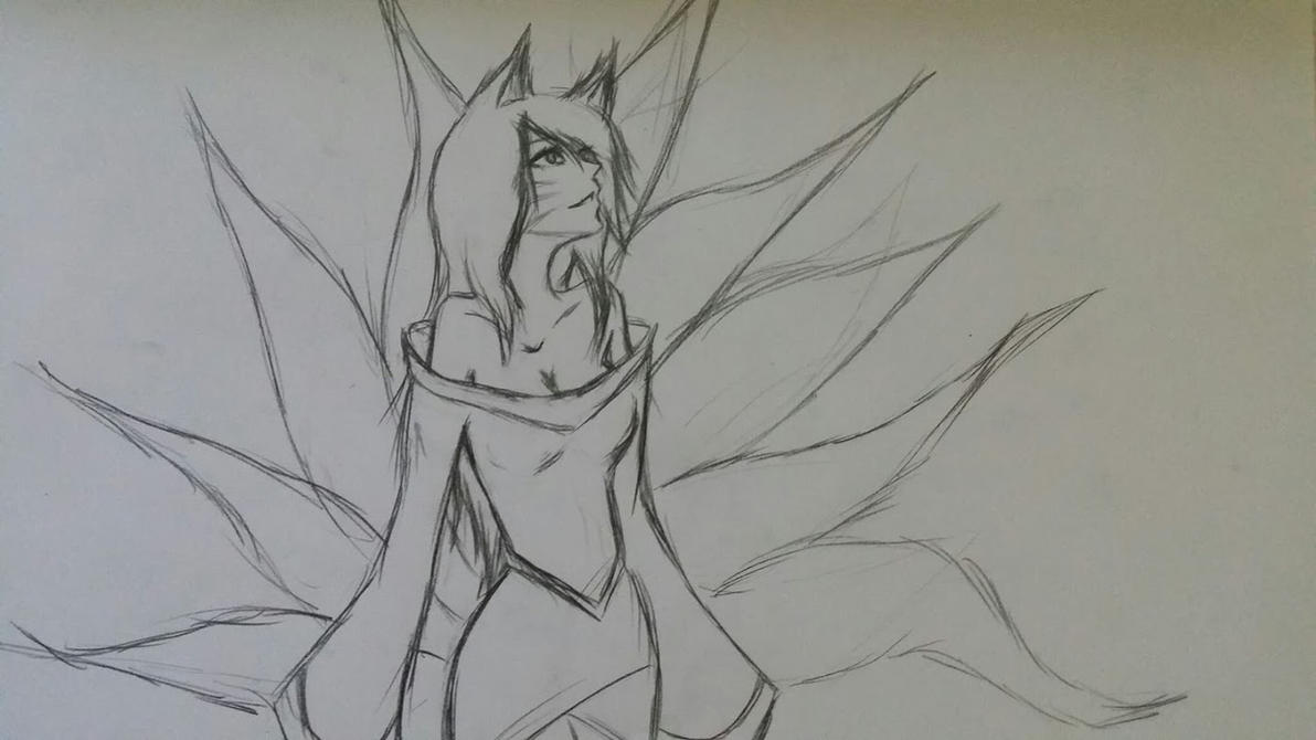 Ahri by DrawingGirlA