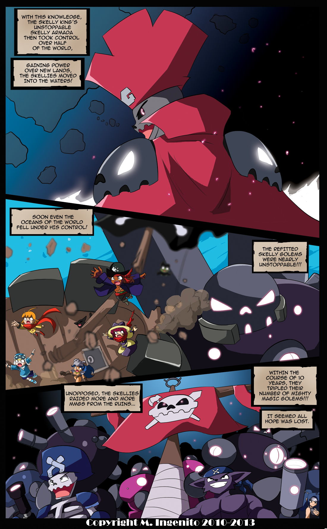 The Pirate Madeline Page 10: Unstoppable Skellies by Randommode
