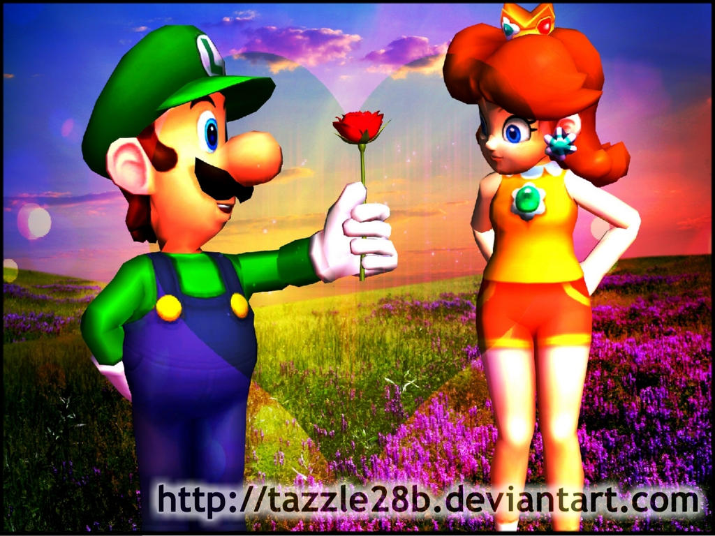 luigi x daisy rose by tazzle28b on deviantart