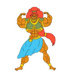 Buff Champion Urbosa - Colored by TaylorsToonAdventure