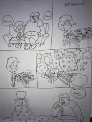 Ethan,Nathan, Larry and Elmer popcorn mini comic