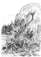 Loch ness terror by yacermino