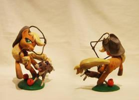 Applejack and Winona by AlexCroft1991