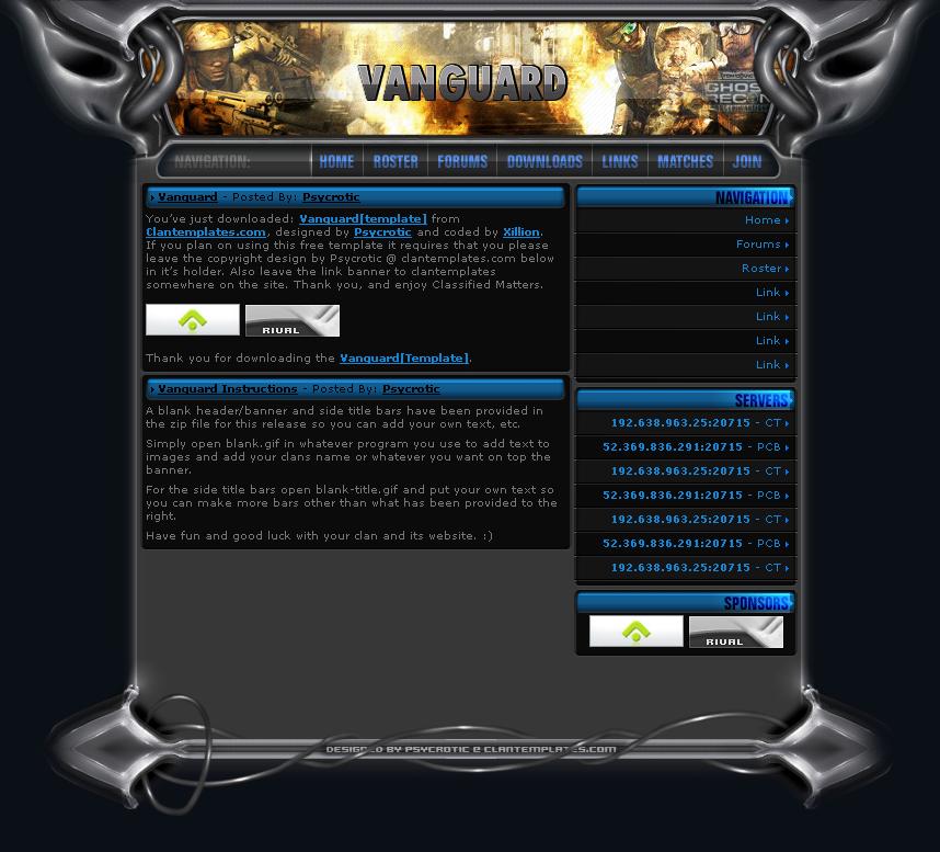 Download Template Vanguard