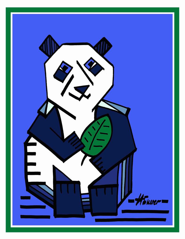 The Blue Panda by peterhaeusser