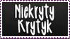 Niekryty krytyk fan stamp by RainbowKaDash