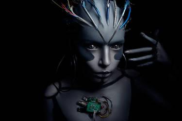 Cyborg Make Up by shproton