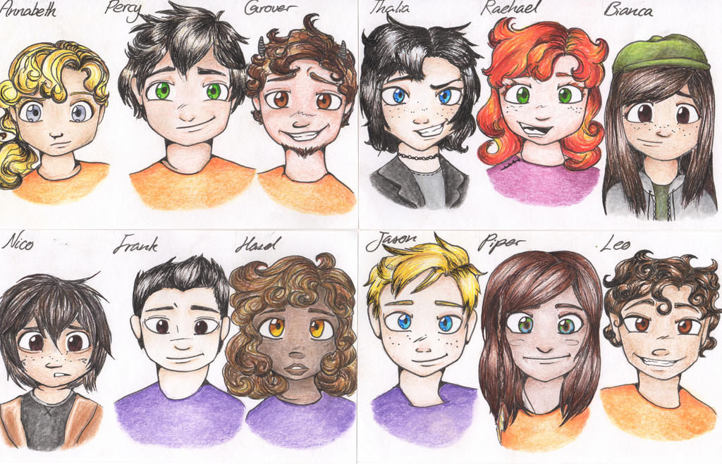 Percy Jackson Characters by stelleo on DeviantArt