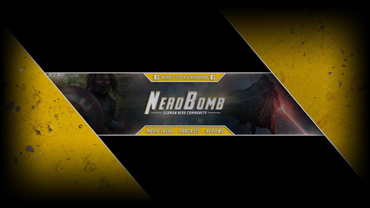 NerdBomb YouTube Banner v1 by luzudemcas
