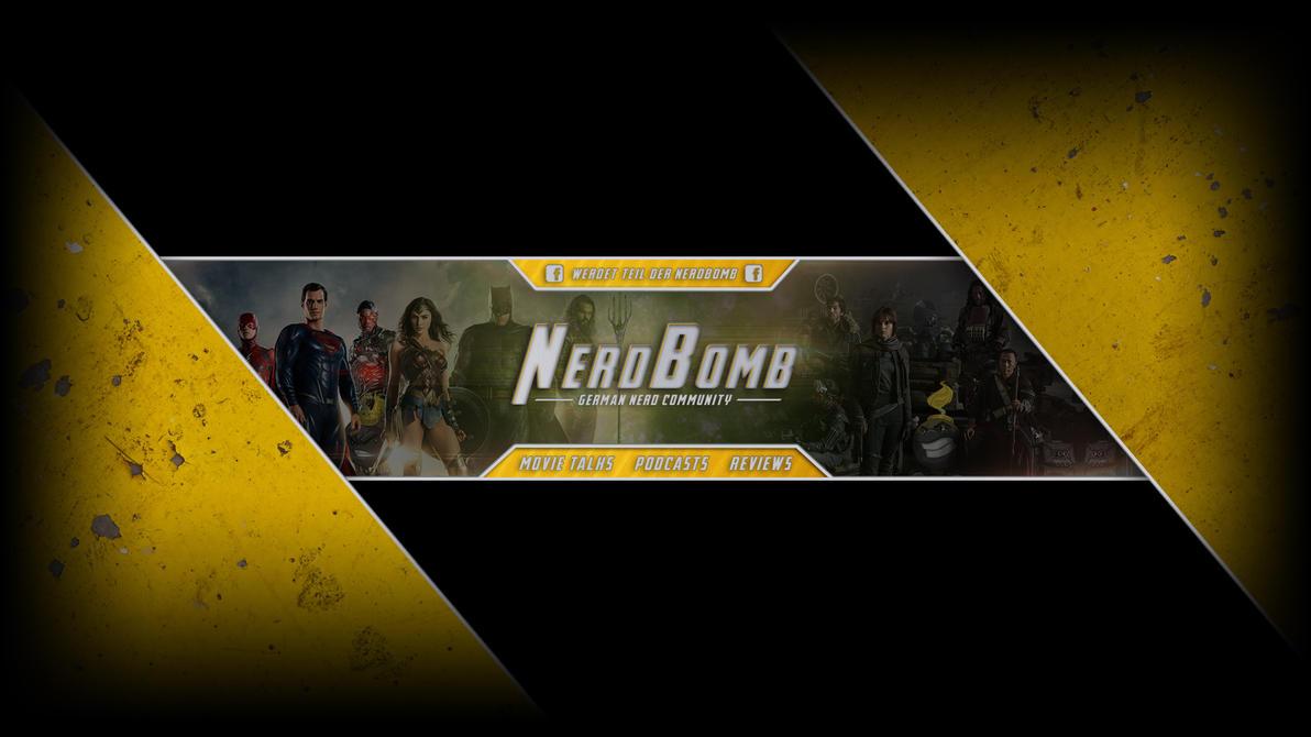 NerdBomb YouTube Banner v2 by luzudemcas