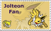 Jolteon Fan Stamp by StampMania