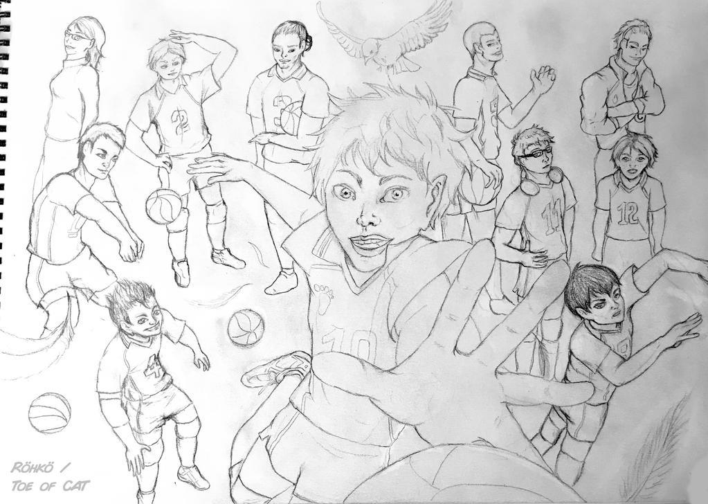 Karasuno High Volleyball Club - Sketch 2