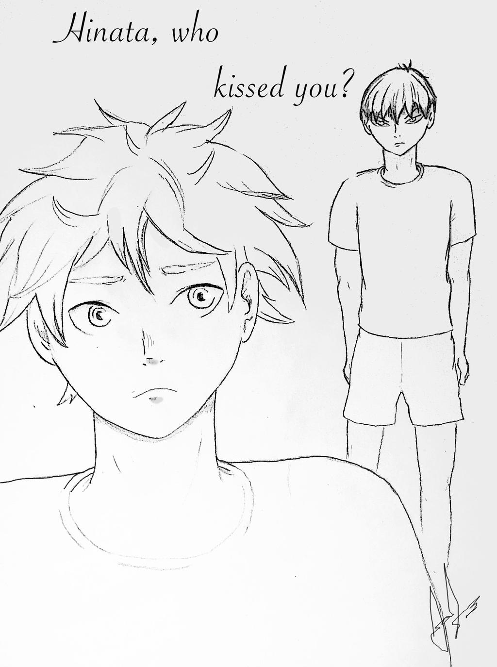 Hinata, who kissed you? manga cover