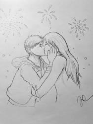 Aomine And Momoi kissing